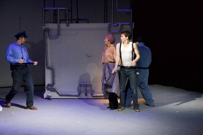 Bryan Smith, Sherry West, Adam Sanders and Murray Melnychuk in Urinetown