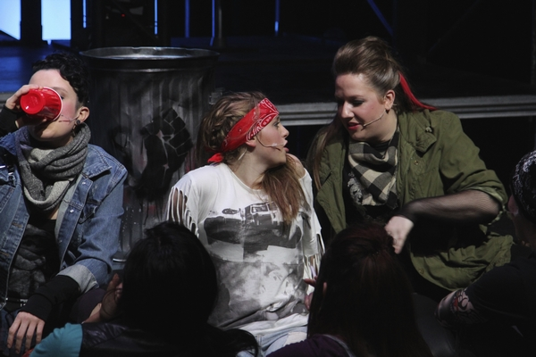 Danielle Desmarais, Kaleigh Richards and Emily Sunderland in Jesus Christ Superstar