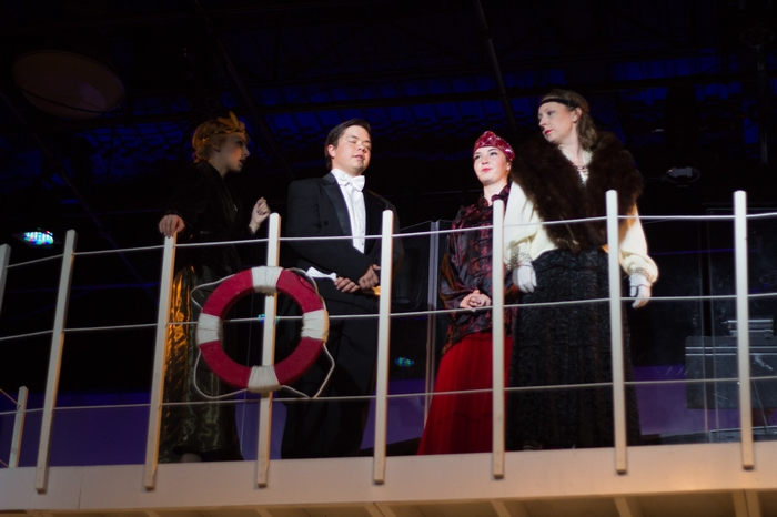 Mikee Ames, Jenna Fraser, Daniel Ripley and Sarah Rempel in Anything Goes