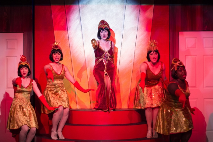 Tanis Laatsch, Chelsea Wellman, Nicole Bouwman, Meg Thatcher and Jessica Jones in Anything Goes