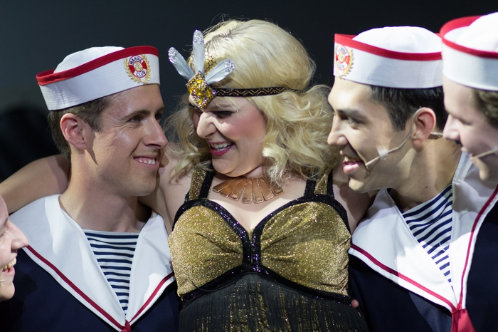 Cody Field, Andrea Timmons and Matthew McDonald in Anything Goes