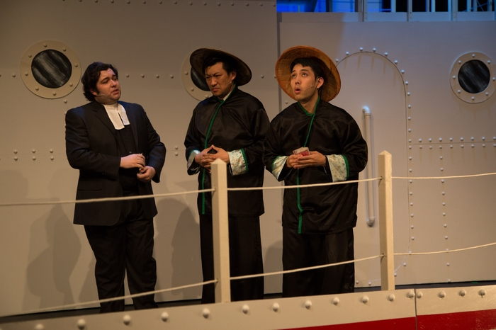 Riley Galarneau, Terry Chung and Matthew McDonald in Anything Goes