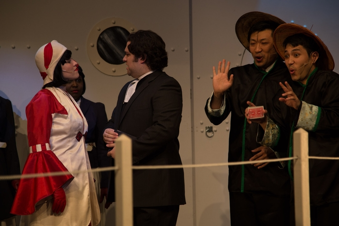 Tanis Laatsch, Riley Galarneau, Terry Chung and Matthew McDonald in Anything Goes