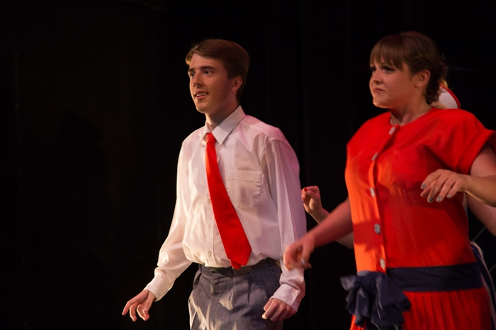 Evan Forbes and Larra Caldie in Anything Goes