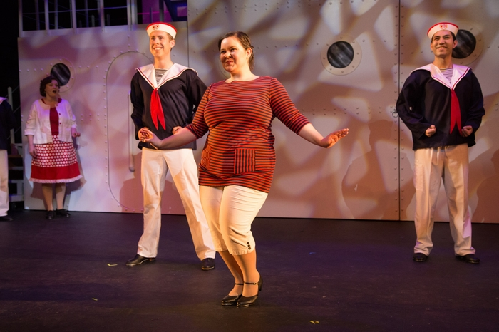 Cody Field, Vicki Trask and Matthew McDonald in Anything Goes