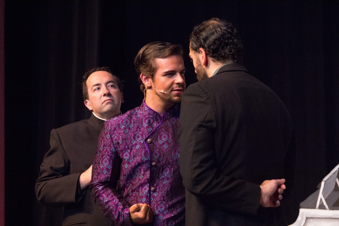 Steven Eastgaard-Ross, Thompson Harper and Jeffrey Diodati in The Mystery of Edwin Drood