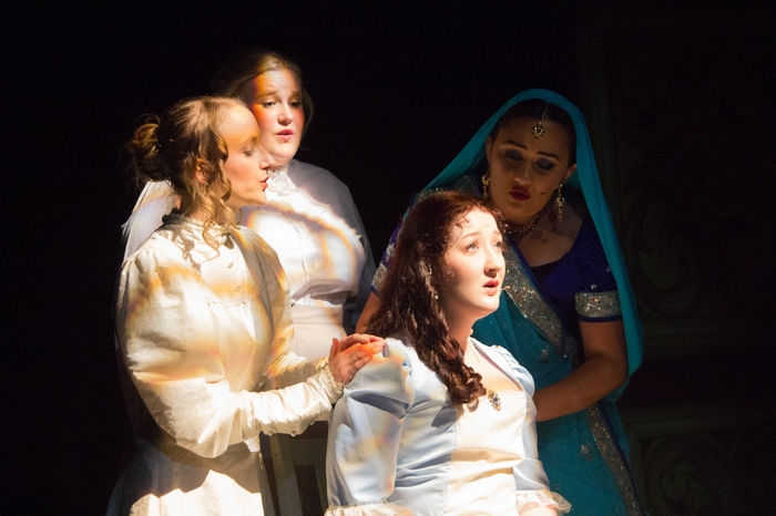 Allie Higgins-Pompu, Nicole Heide, Maddy Quinn and Tarryn Harris in The Mystery of Edwin Drood