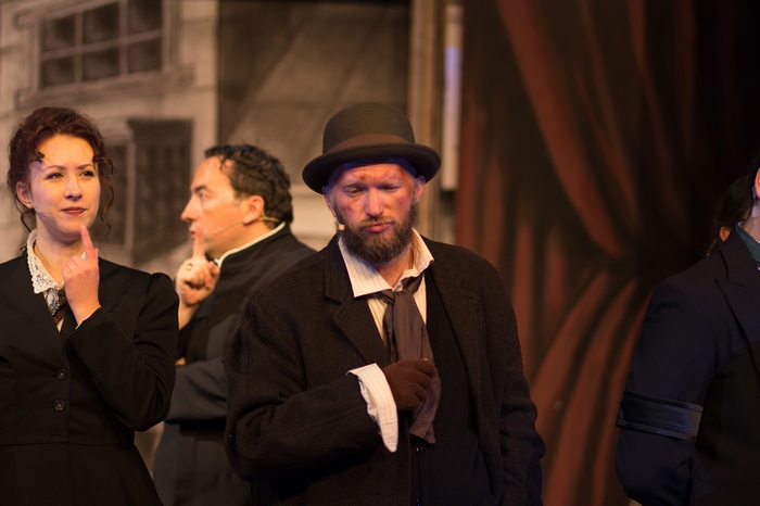Christine Mooney, Steven Eastgaard-Ross and Janos Zeller in The Mystery of Edwin Drood