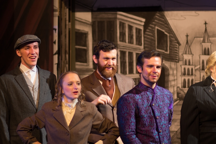 Thompson Harper, Tarryn Harris, Connor Goodfellow and Harrison Bentley in The Mystery of Edwin Drood
