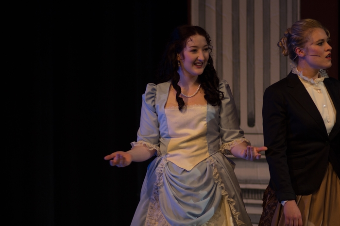 Tanis Laatsch and Nicole Heide in The Mystery of Edwin Drood