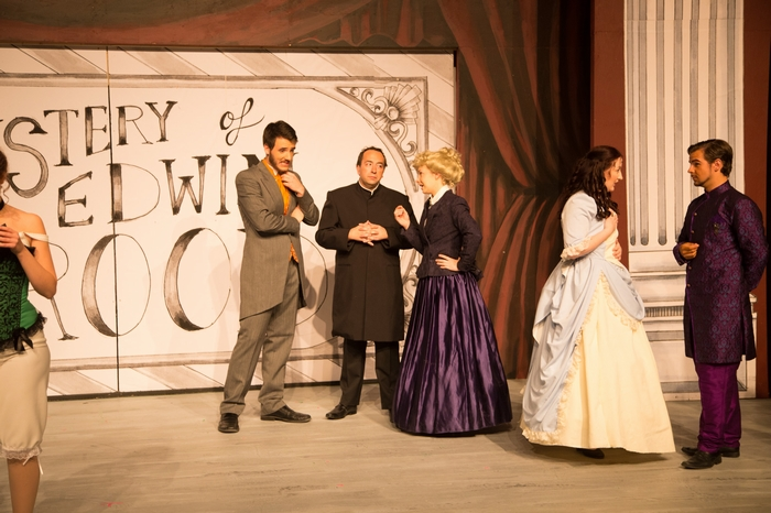 Johann Wentzel, Steven Eastgaard-Ross, Chelsea Wellman, Nicole Heide and Thompson Harper in The Mystery of Edwin Drood