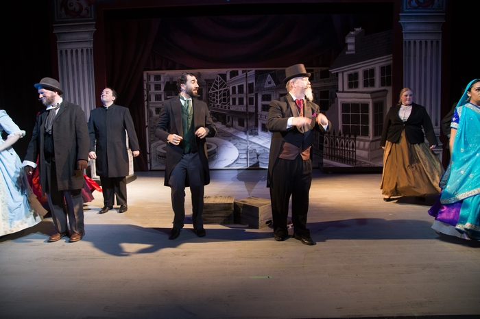 Janos Zeller, Steven Eastgaard-Ross, Jeffrey Diodati, Clark Adams and Maddy Quinn in The Mystery of Edwin Drood