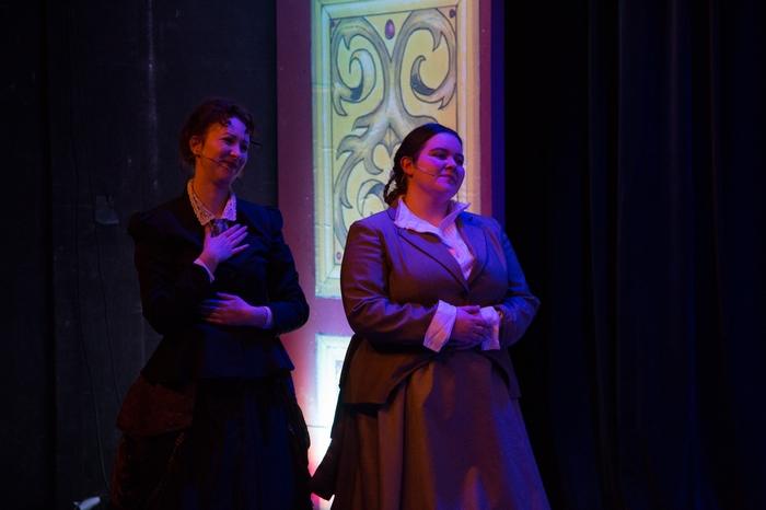 Christine Mooney and Vicki Trask in The Mystery of Edwin Drood