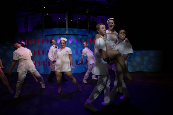 Bryan Smith, Nicole Heide, Jordan Dahl, Izaha Cochran and Cody Field in Catch Me If You Can