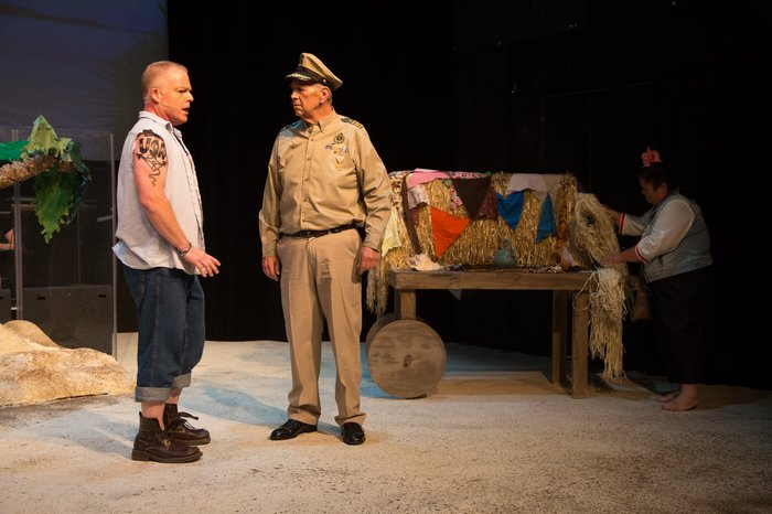 Rich Davis and Tim Elliott in South Pacific