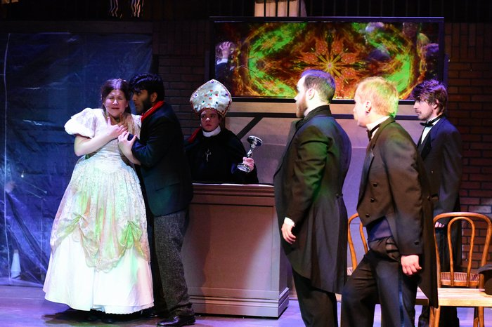 Eva Knight, Praneet Akilla, Daniel Ripley, Nicholas Chamberlain, David Mottle and Evan Forbes in Jekyll & Hyde