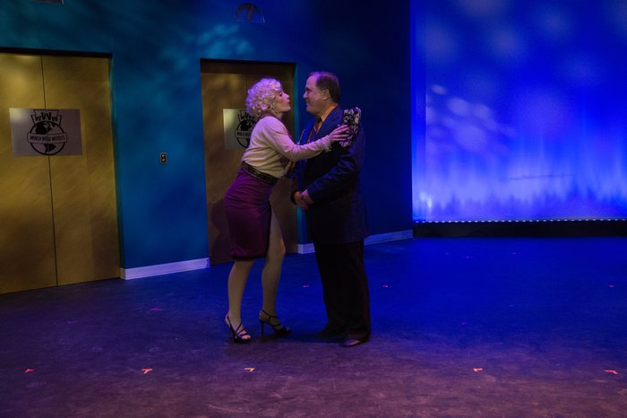 Ashley Soles and Murray Melnychuk in How to Succeed in Business Without Really Trying