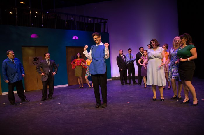 Gary Silberg, Christy Wiebe, David Mottle, Spencer Schroh, Daniel Kim, Cj Wiseman, Carleigh Cartmell, Devon Bauer and Danielle Renton in How to Succeed in Business Without Really Trying