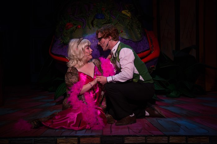 Kimberly McDonald and Jeff Rivet in Little Shop of Horrors