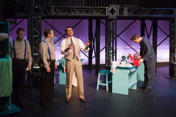 Dan Derksen, Darren Stewart and Fadi Saghir in The Pajama Game