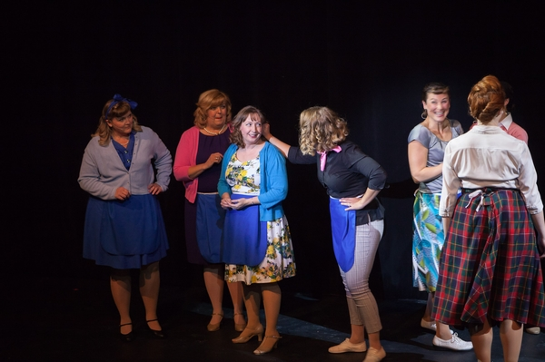 Kelly Misko, Jill Howell-Fellows, Mikee Ames, Tanis Laatsch and Terra Plum in The Pajama Game