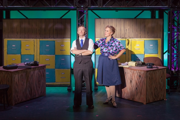 Janos Zeller and Lyndsey Paterson in The Pajama Game