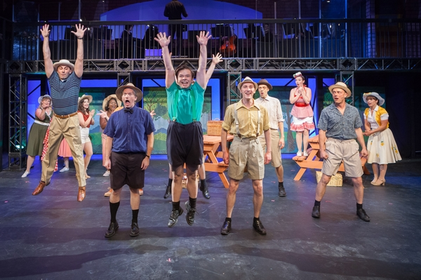 Fadi Saghir, Janos Zeller, Daniel Ripley, Harrison Bentley and Dan Derksen in The Pajama Game