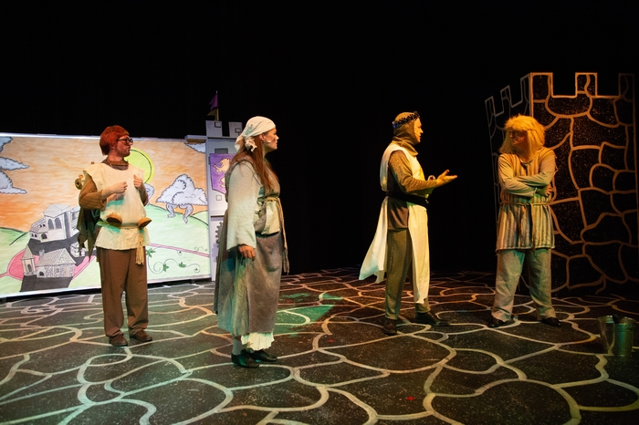 Janos Zeller, Jane Phillips, Mike Sornberger and Darren Stewart in Monty Python's Spamalot