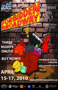 Poster for Forbidden Broadway's Greatest Hits